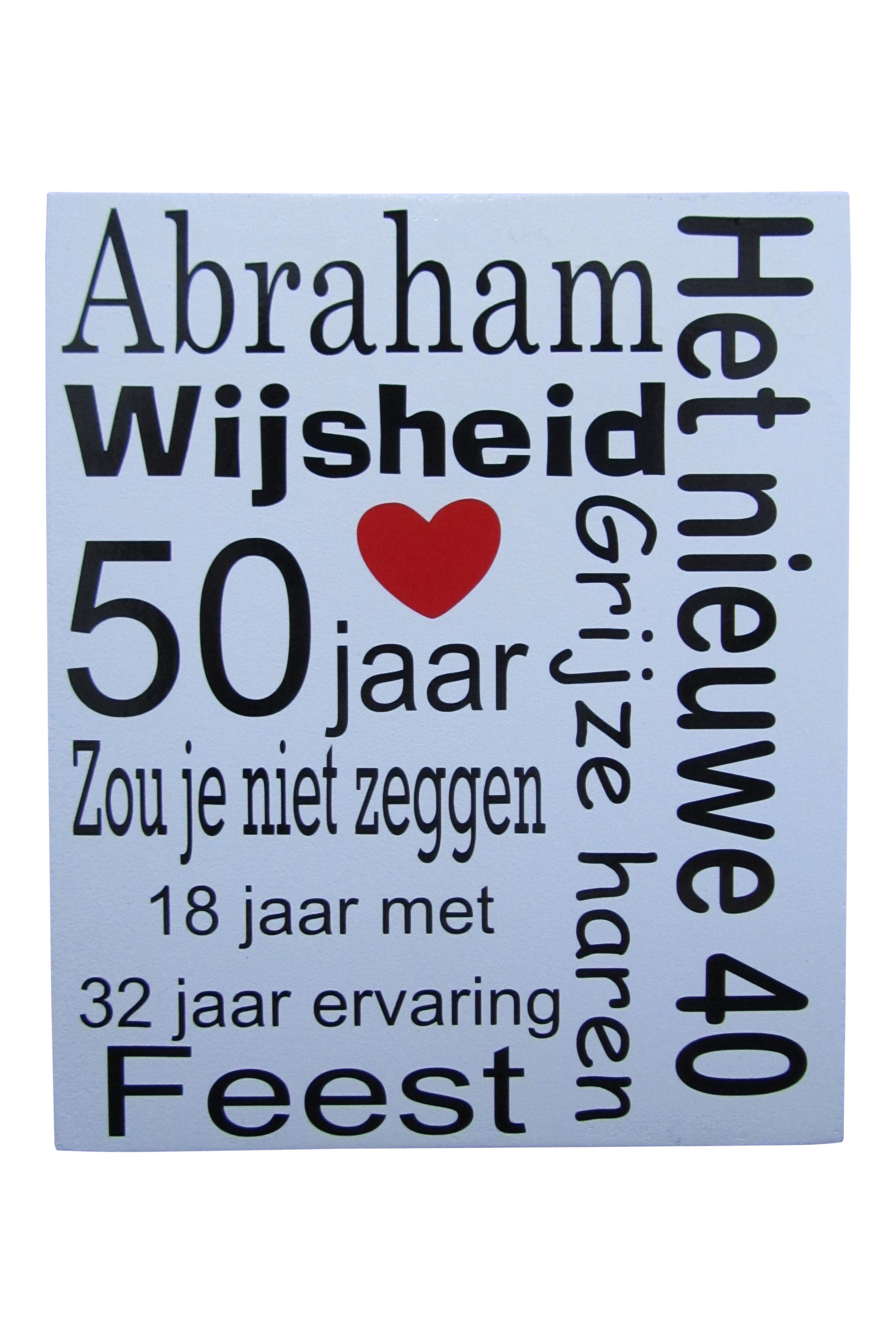 50 jaar tekst abraham Tekst Voor 50 Jaar Abraham   ARCHIDEV 50 jaar tekst abraham